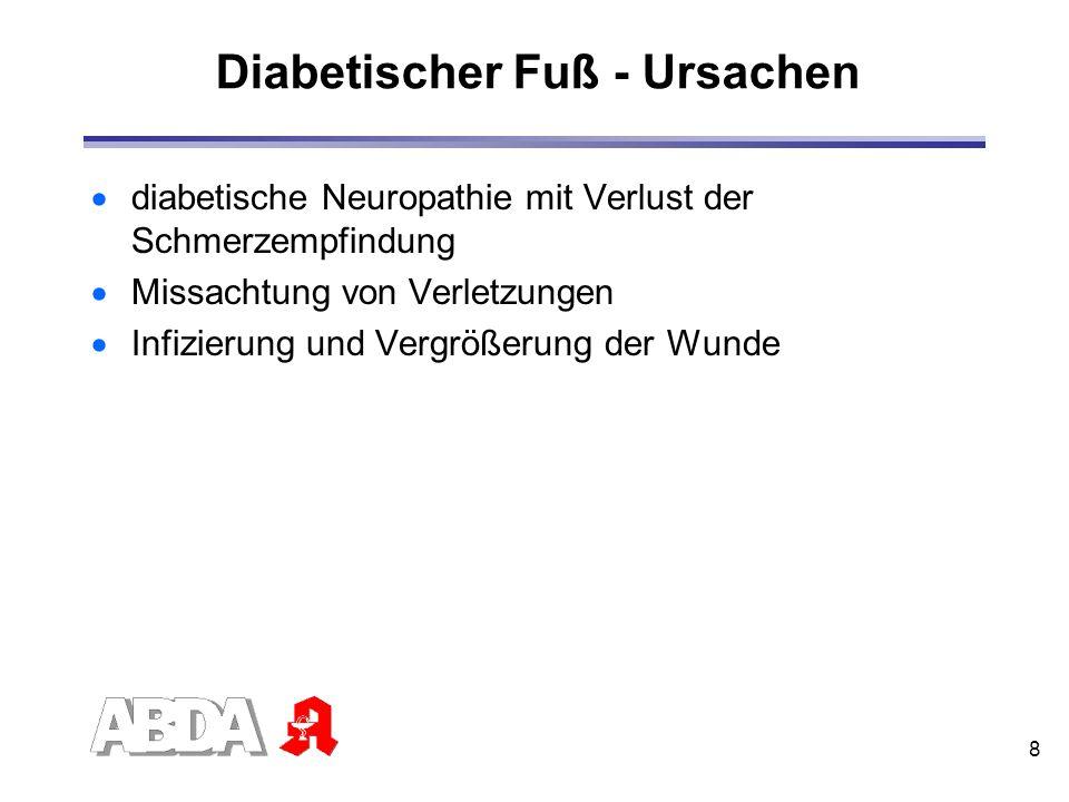Diabetischer Fuß - Ursachen
