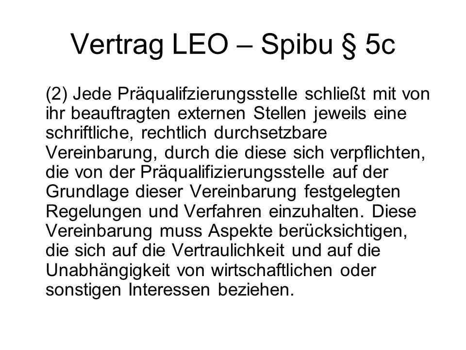 Vertrag LEO – Spibu § 5c