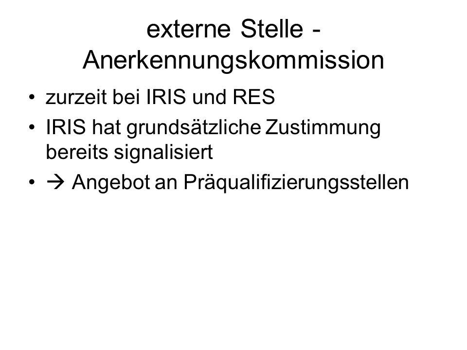 externe Stelle - Anerkennungskommission