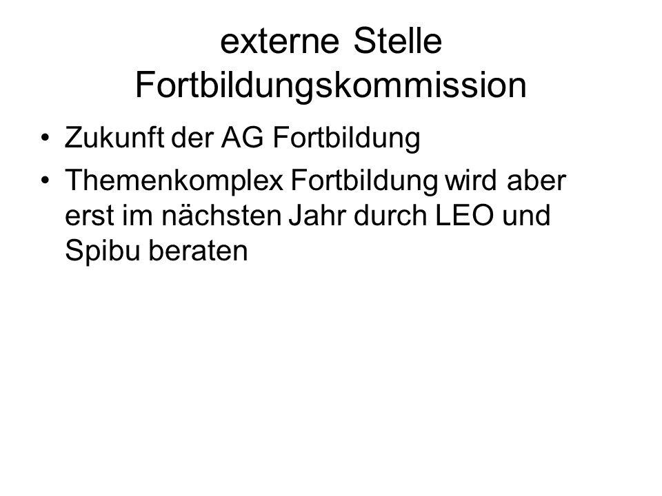 externe Stelle Fortbildungskommission