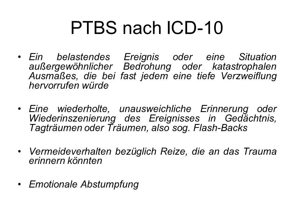 PTBS nach ICD-10