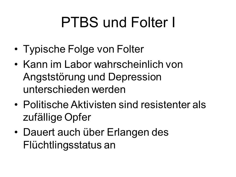 PTBS und Folter I Typische Folge von Folter