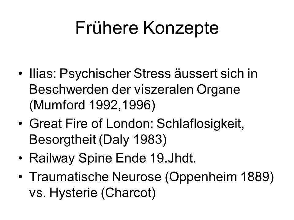 Frühere Konzepte Ilias: Psychischer Stress äussert sich in Beschwerden der viszeralen Organe (Mumford 1992,1996)