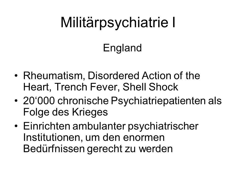 Militärpsychiatrie I England