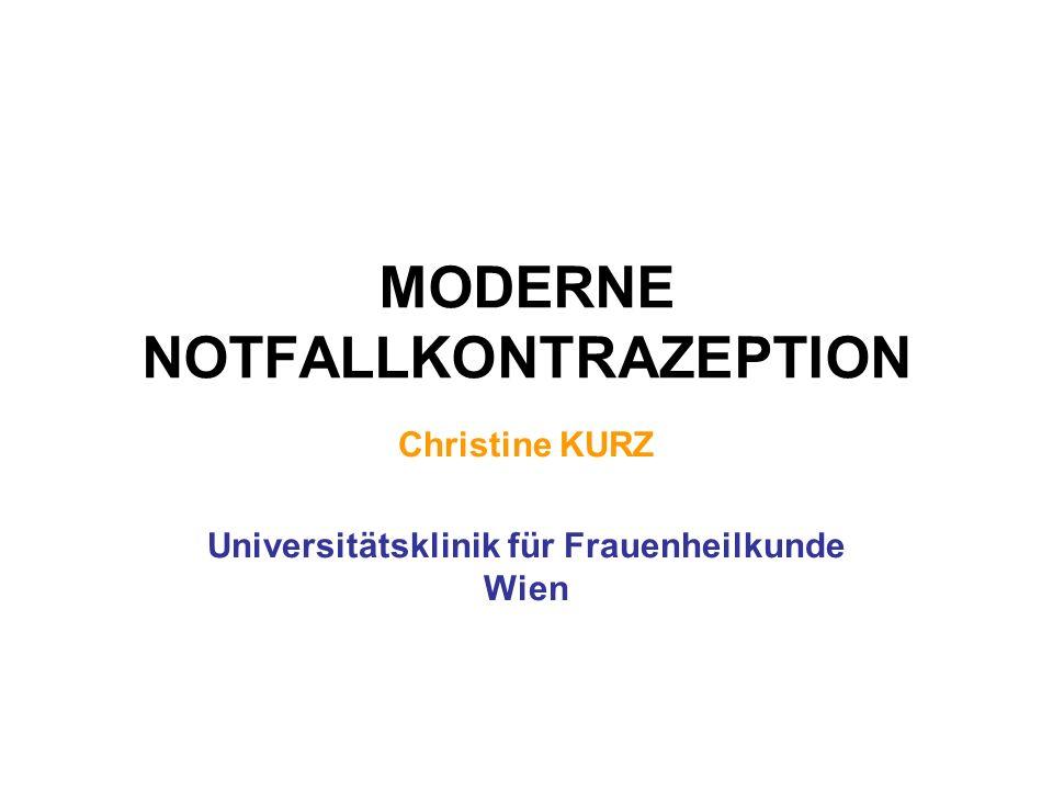 MODERNE NOTFALLKONTRAZEPTION