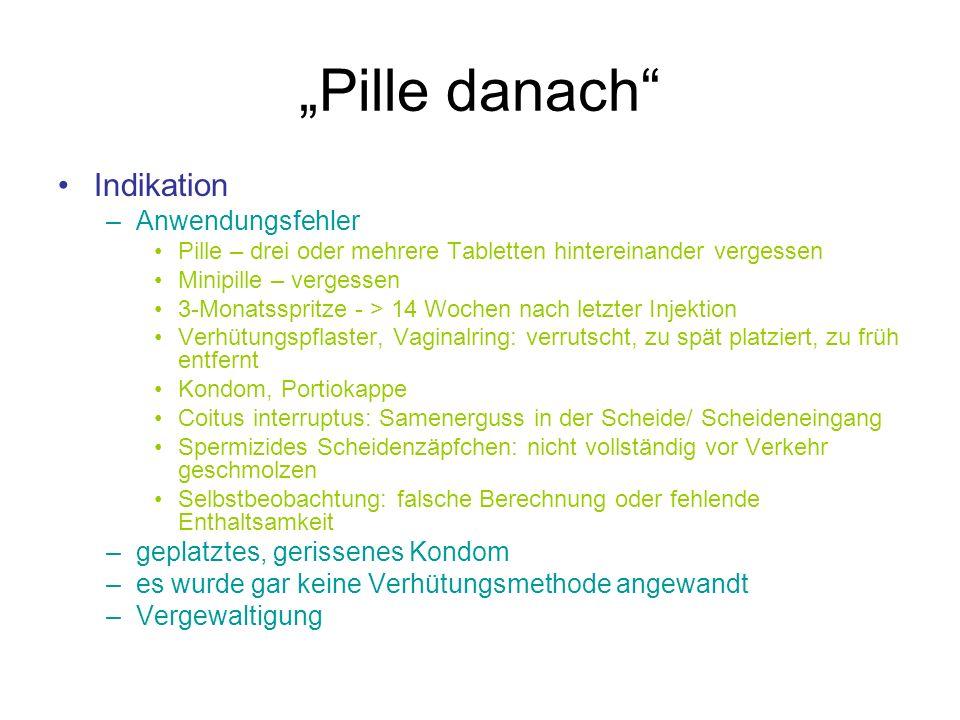 """""""Pille danach Indikation Anwendungsfehler"""