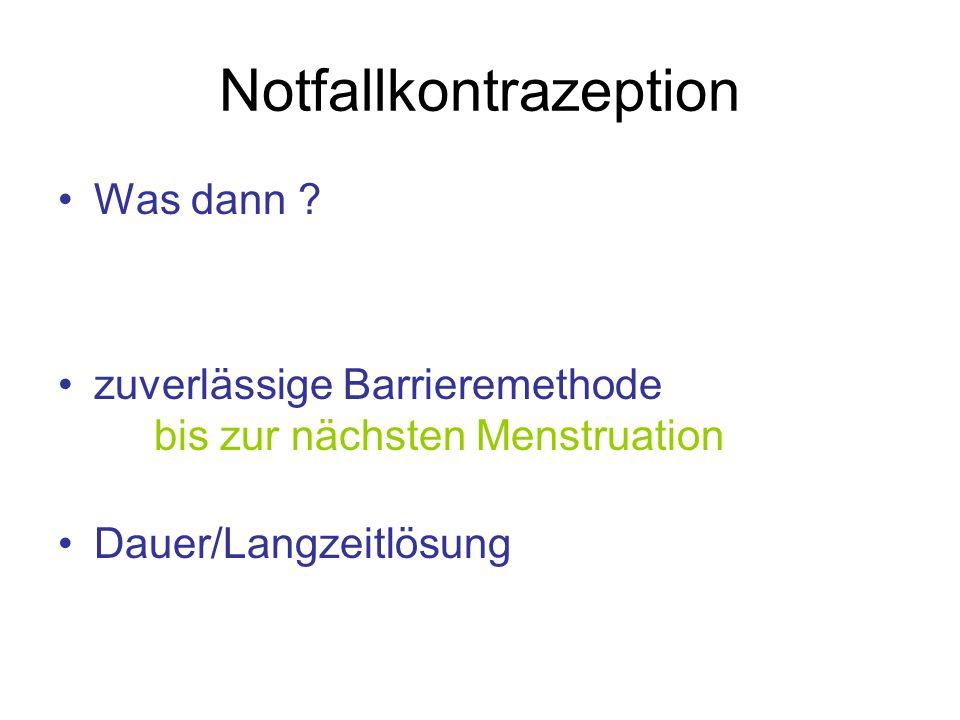 Notfallkontrazeption