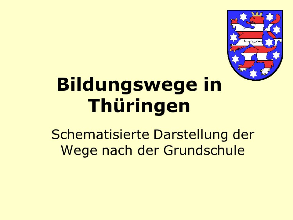 Bildungswege in Thüringen