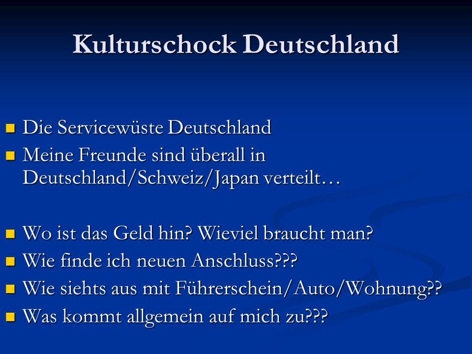 Kulturschock Deutschland