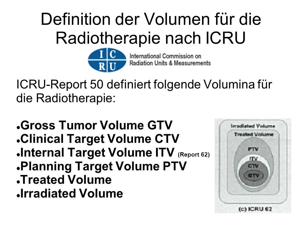 Definition der Volumen für die Radiotherapie nach ICRU