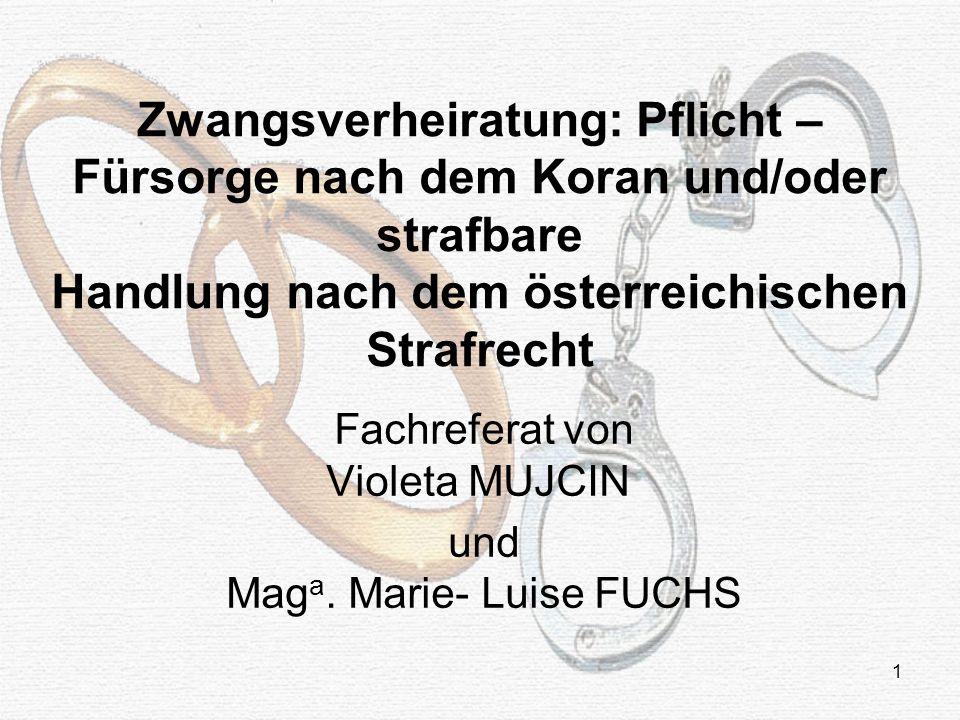Fachreferat von Violeta MUJCIN und Maga. Marie- Luise FUCHS