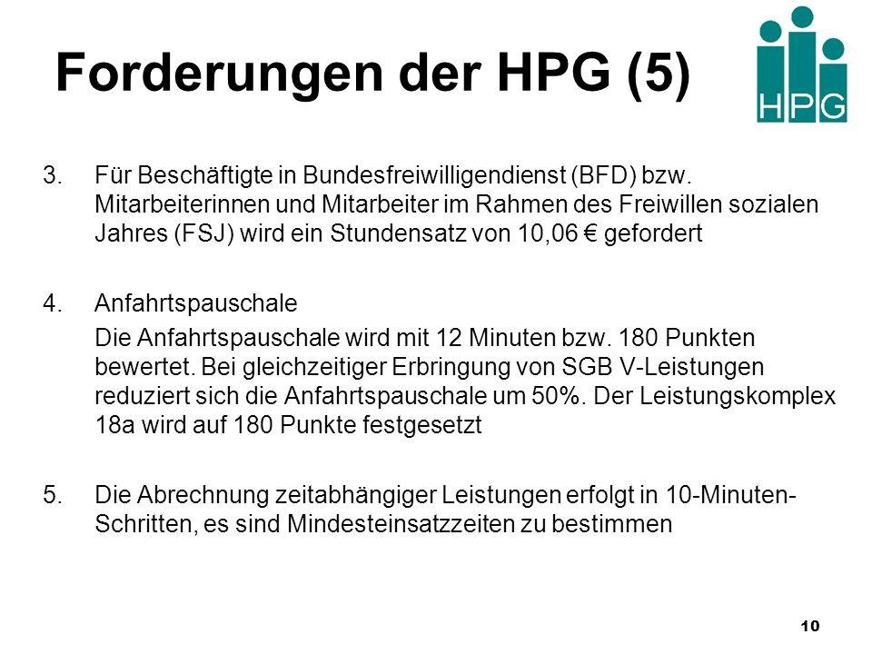 Forderungen der HPG (5)