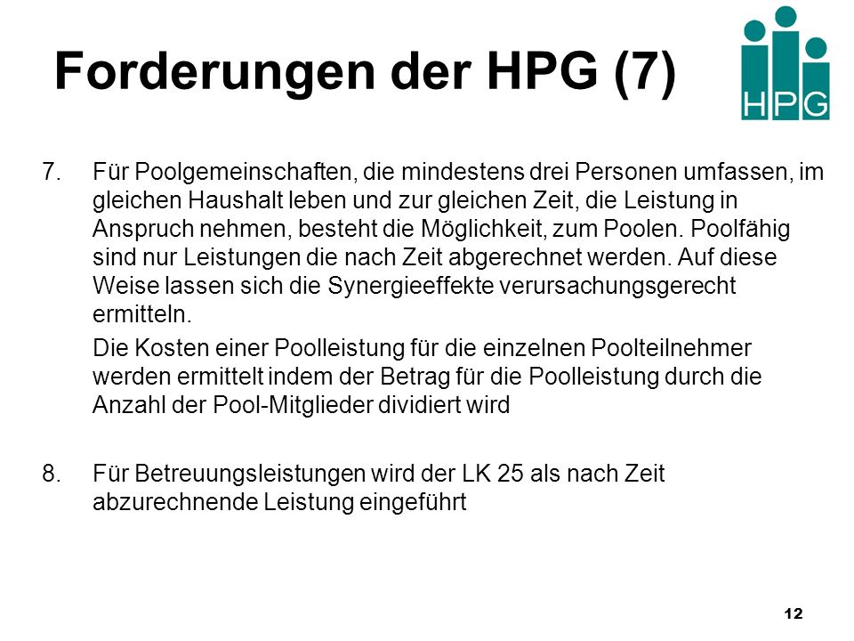 Forderungen der HPG (7)