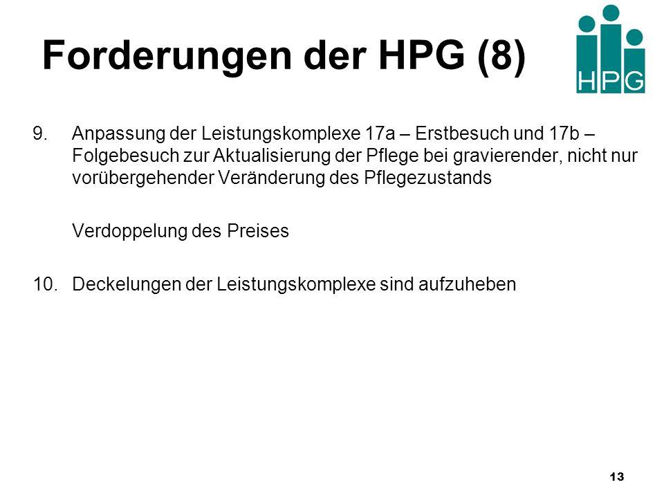 Forderungen der HPG (8)