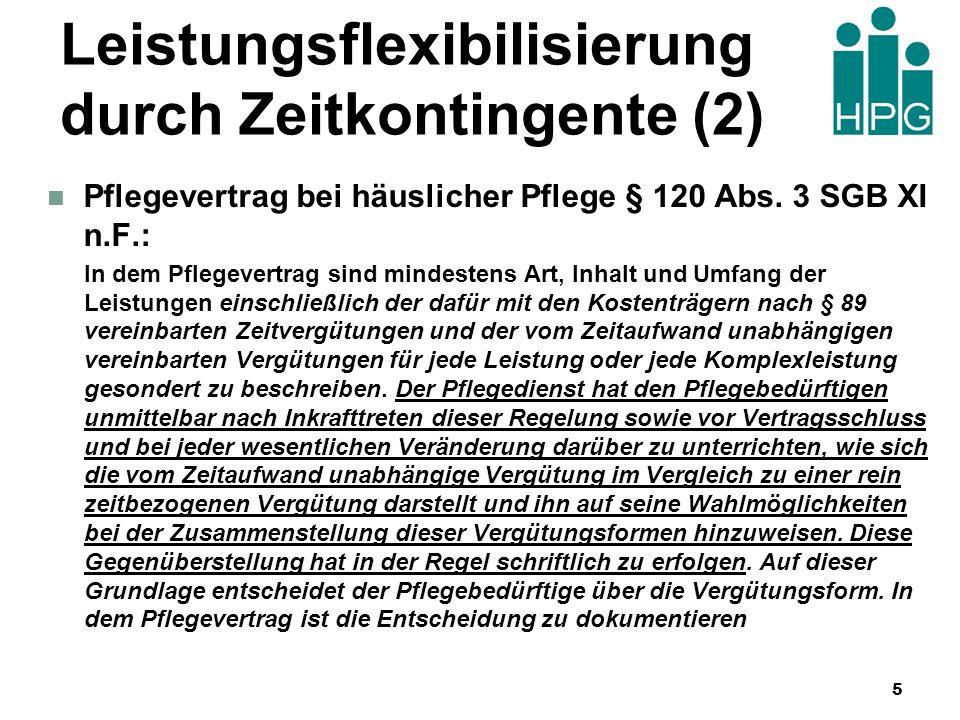 Leistungsflexibilisierung durch Zeitkontingente (2)