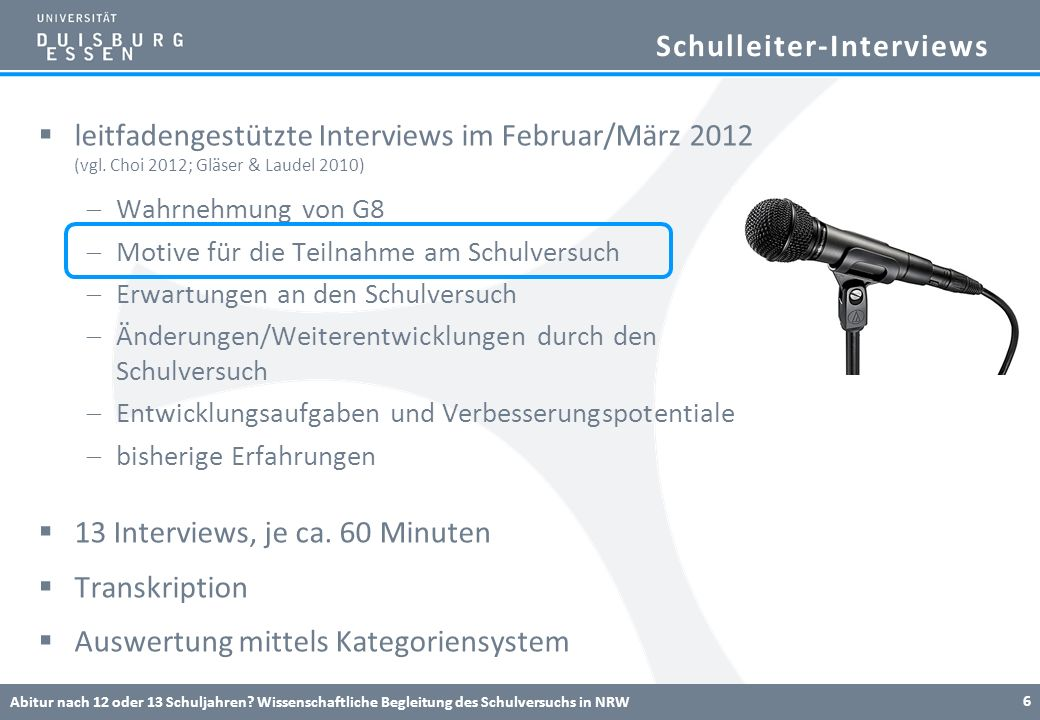 Schulleiter-Interviews