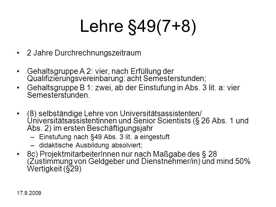 Lehre §49(7+8) 2 Jahre Durchrechnungszeitraum