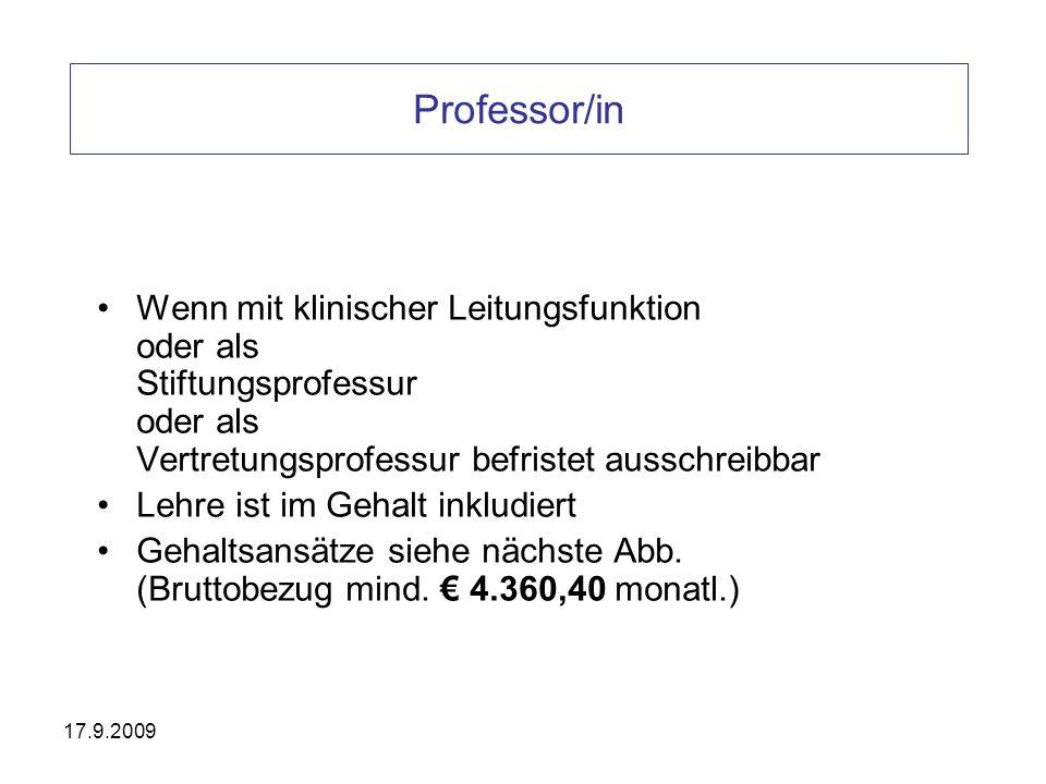 Professor/in Wenn mit klinischer Leitungsfunktion oder als Stiftungsprofessur oder als Vertretungsprofessur befristet ausschreibbar.
