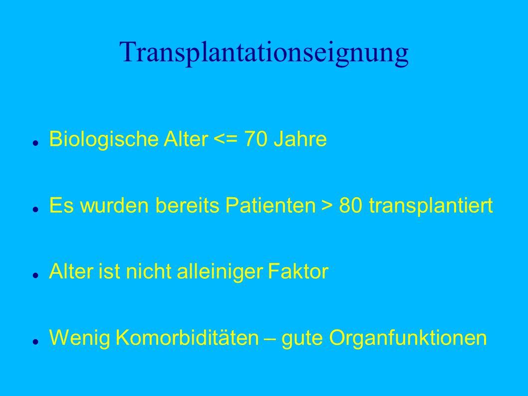 Transplantationseignung