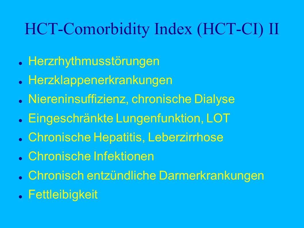 HCT-Comorbidity Index (HCT-CI) II