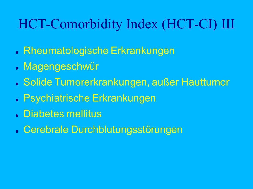 HCT-Comorbidity Index (HCT-CI) III