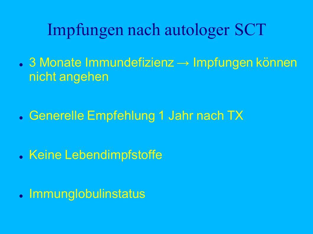 Impfungen nach autologer SCT