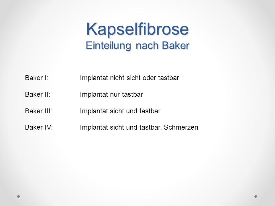 Kapselfibrose Einteilung nach Baker