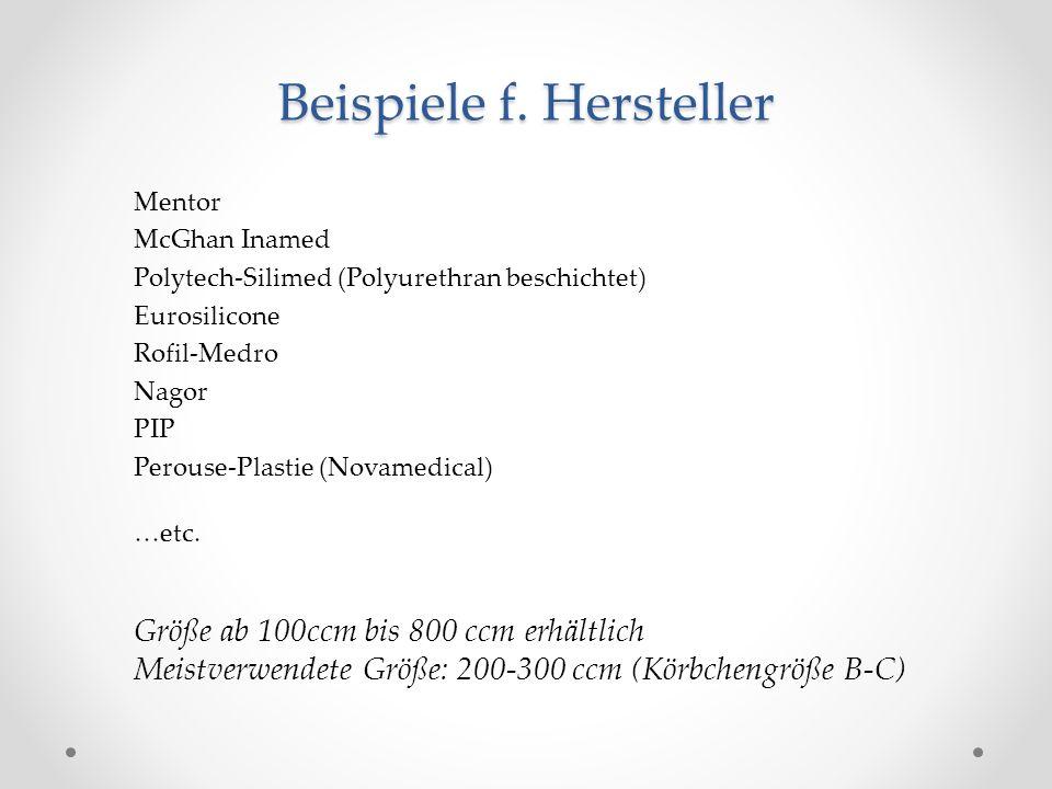 Beispiele f. Hersteller