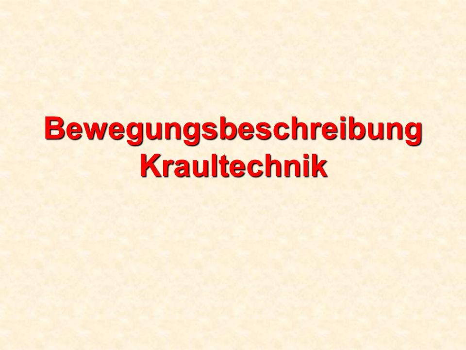 Bewegungsbeschreibung Kraultechnik