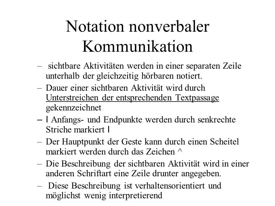 Notation nonverbaler Kommunikation