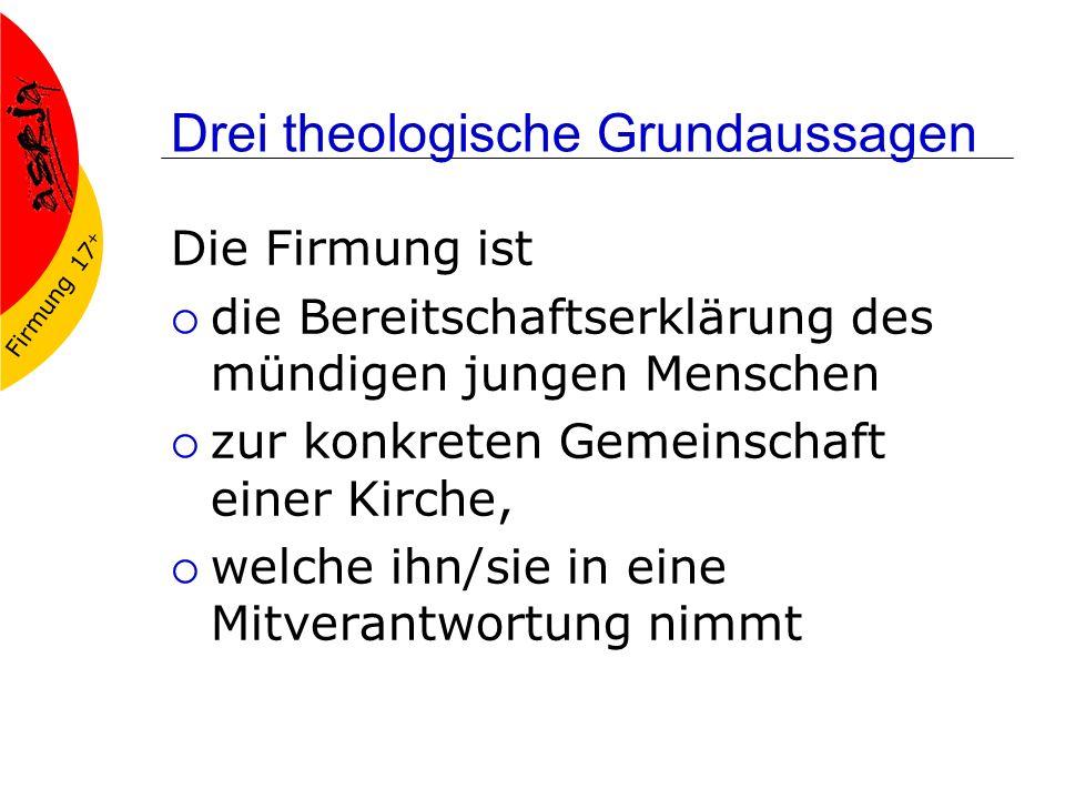 Drei theologische Grundaussagen