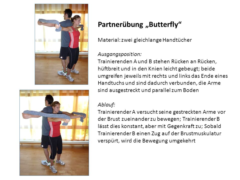 """Partnerübung """"Butterfly"""