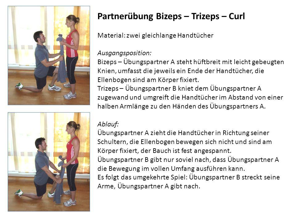 Partnerübung Bizeps – Trizeps – Curl