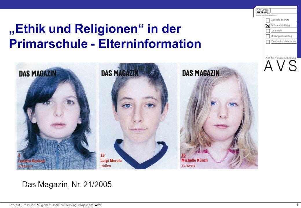 """""""Ethik und Religionen in der Primarschule - Elterninformation"""