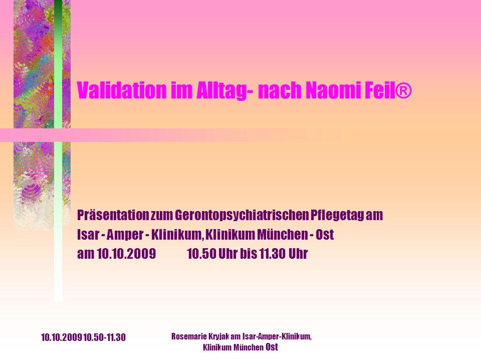 Validation im Alltag- nach Naomi Feil®