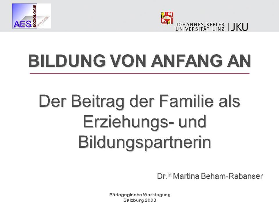 Der Beitrag der Familie als Erziehungs- und Bildungspartnerin