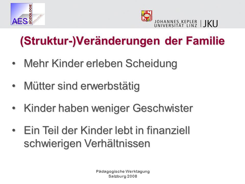 (Struktur-)Veränderungen der Familie
