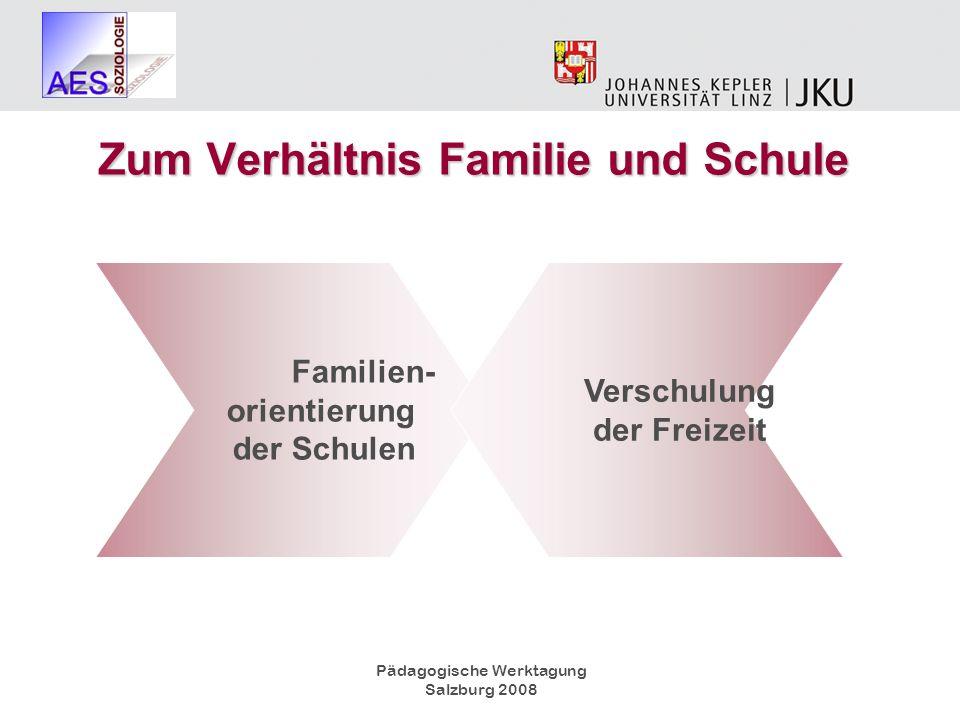 Zum Verhältnis Familie und Schule Verschulung der Freizeit