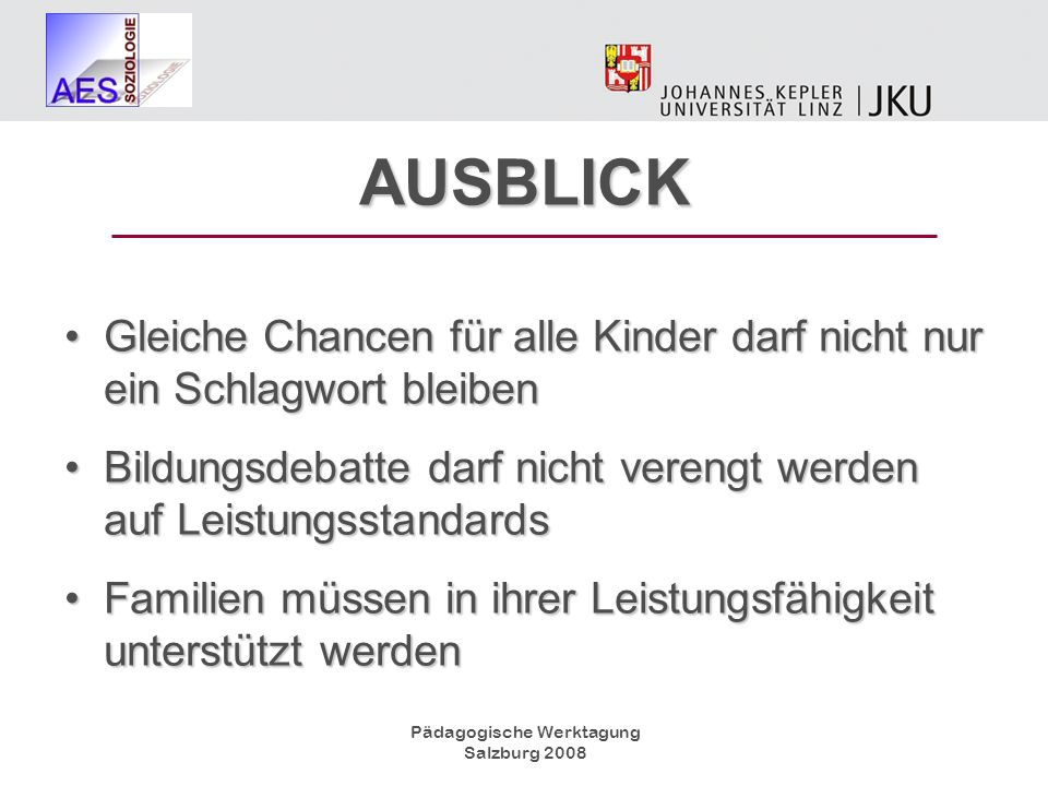 Pädagogische Werktagung Salzburg 2008