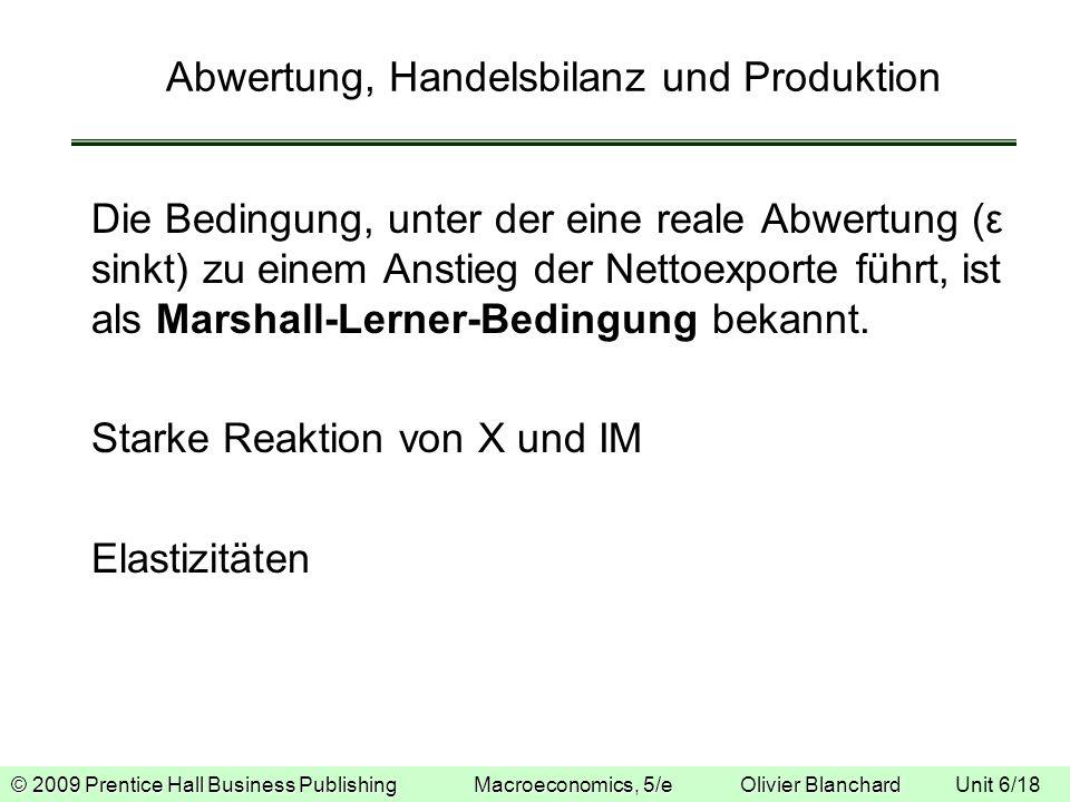 Abwertung, Handelsbilanz und Produktion