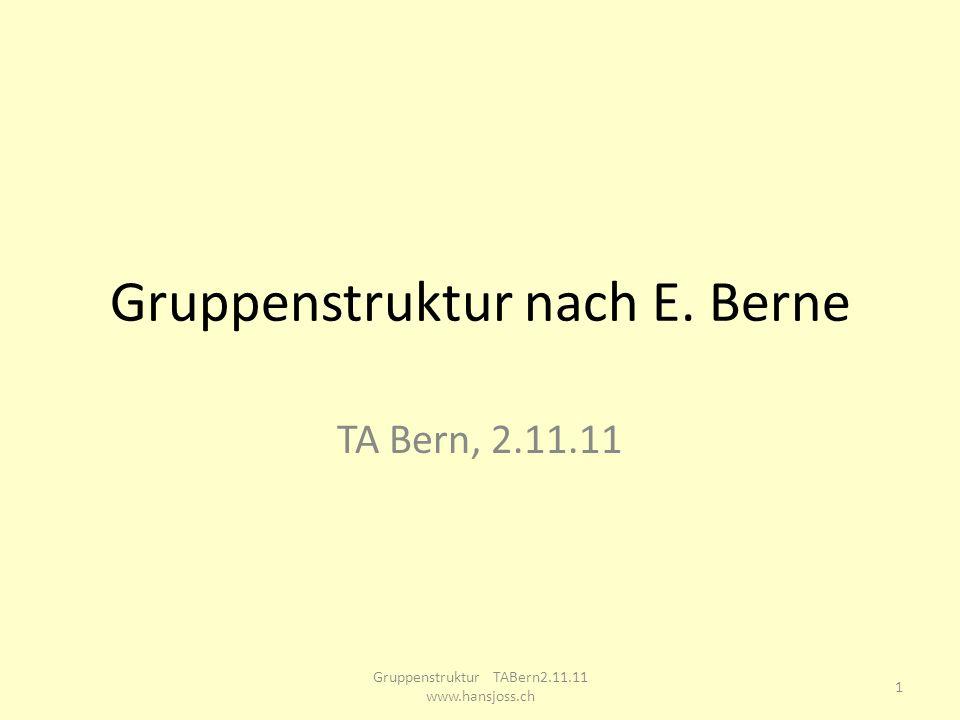 Gruppenstruktur nach E. Berne