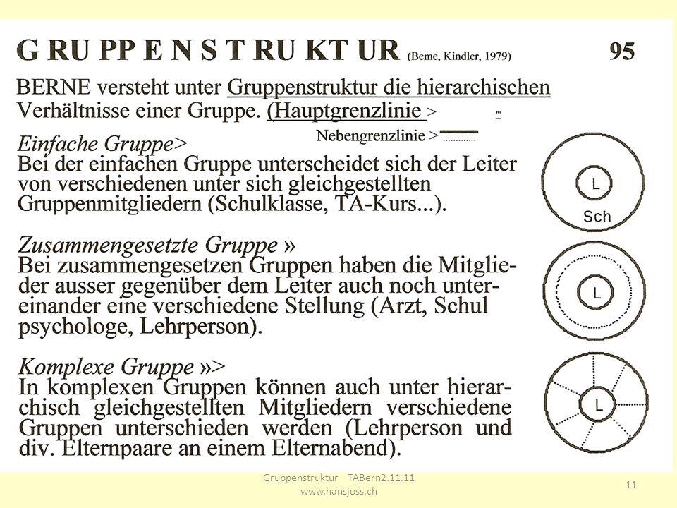 Gruppenstruktur TABern2.11.11 www.hansjoss.ch