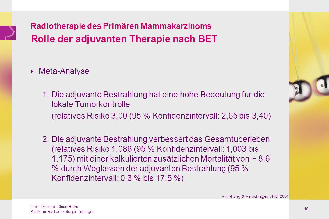 Rolle der adjuvanten Therapie nach BET