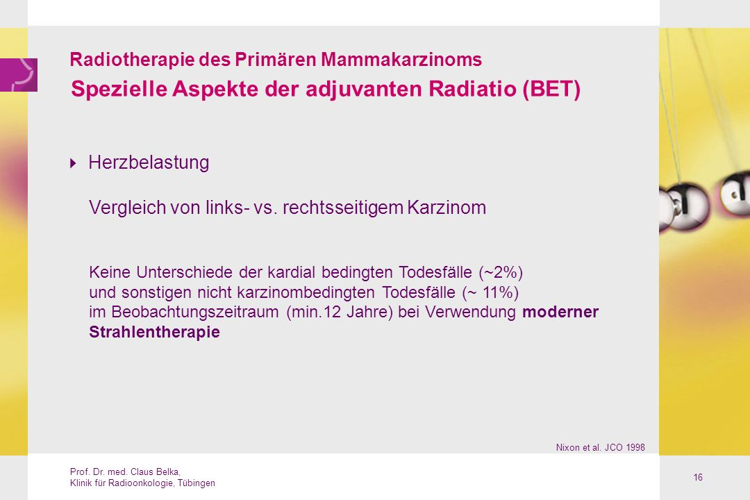 Spezielle Aspekte der adjuvanten Radiatio (BET)