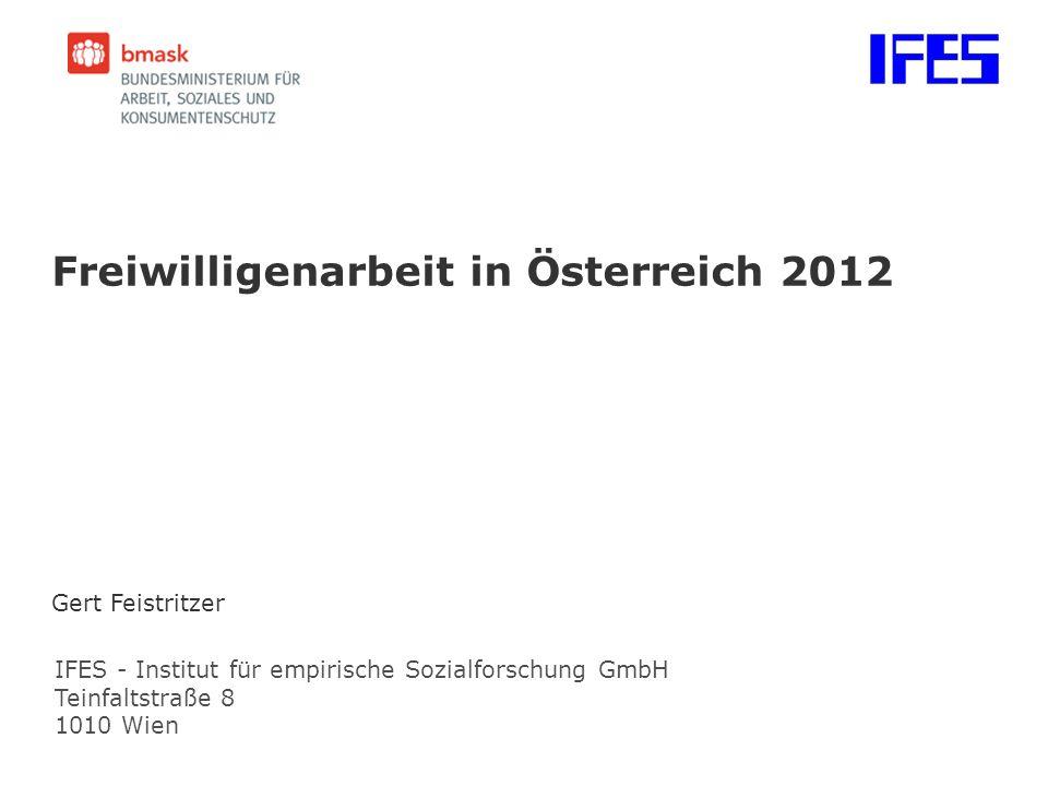 Freiwilligenarbeit in Österreich 2012