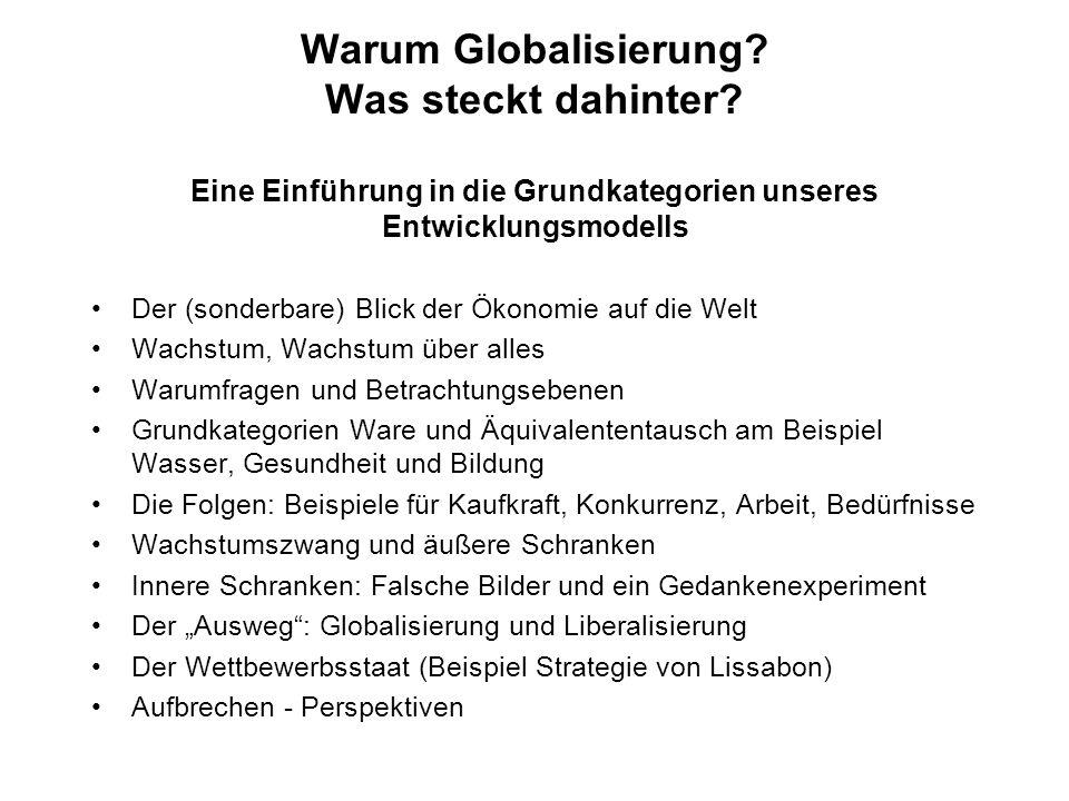 Warum Globalisierung. Was steckt dahinter
