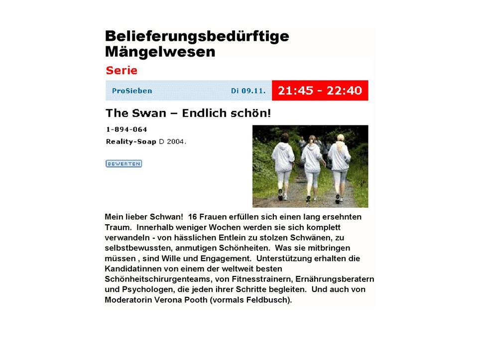 Belieferungsbedürftige Mängelwesen – The Swan