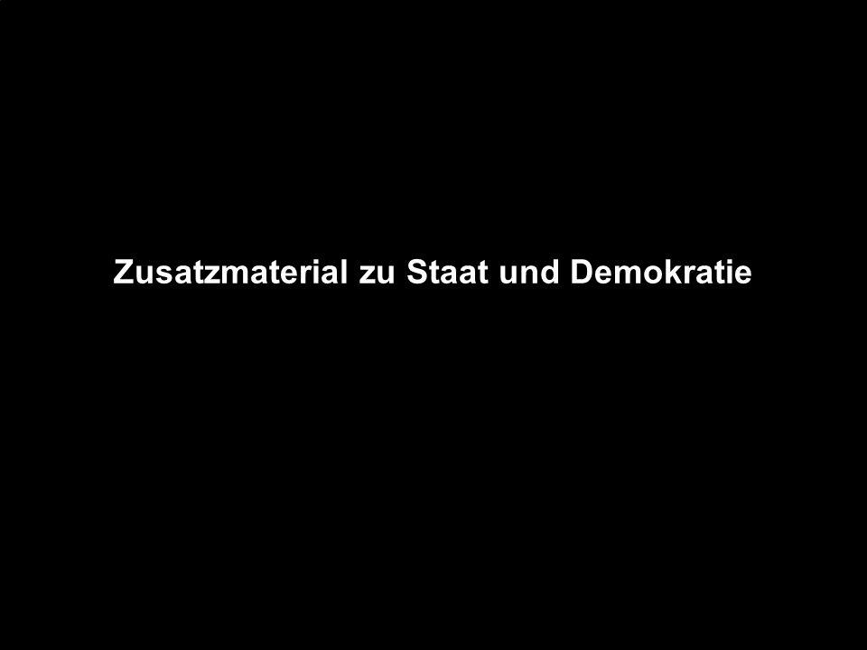 Zusatzmaterial zu Staat und Demokratie