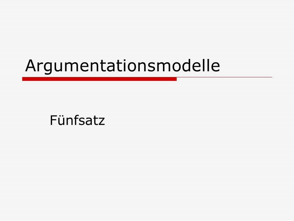 Argumentationsmodelle