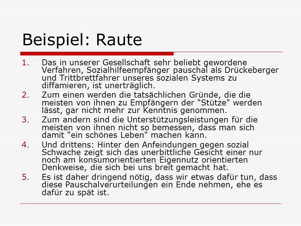 Beispiel: Raute
